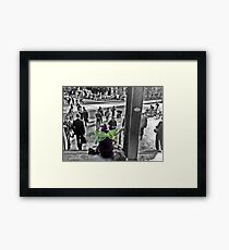Caught in a moment  Framed Print