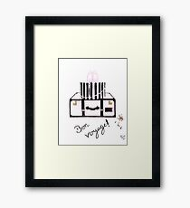 Bon Voyage Watercolour Illustration Framed Print