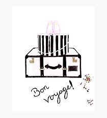 Bon Voyage Watercolour Illustration Photographic Print