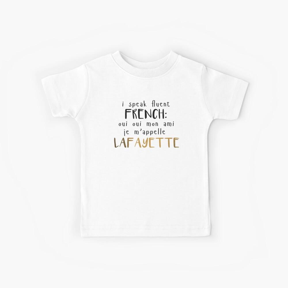 Flüssig Französisch Kinder T-Shirt