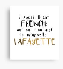 Fluent French Canvas Print