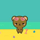 Cute bear on holiday by peppermintpopuk