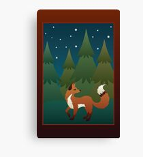 Forest Fox Canvas Print