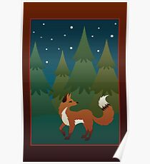 Forest Fox Poster