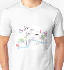 London Guide Watercolour Illustration Unisex T-Shirt