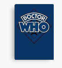 Doctor Who - Diamond Logo Blue Black Bars Canvas Print