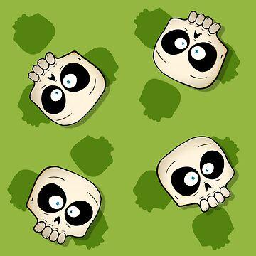 Little Skull Pattern - Green by MrBradd