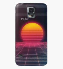 Digitaler Sonnenuntergang Hülle & Klebefolie für Samsung Galaxy