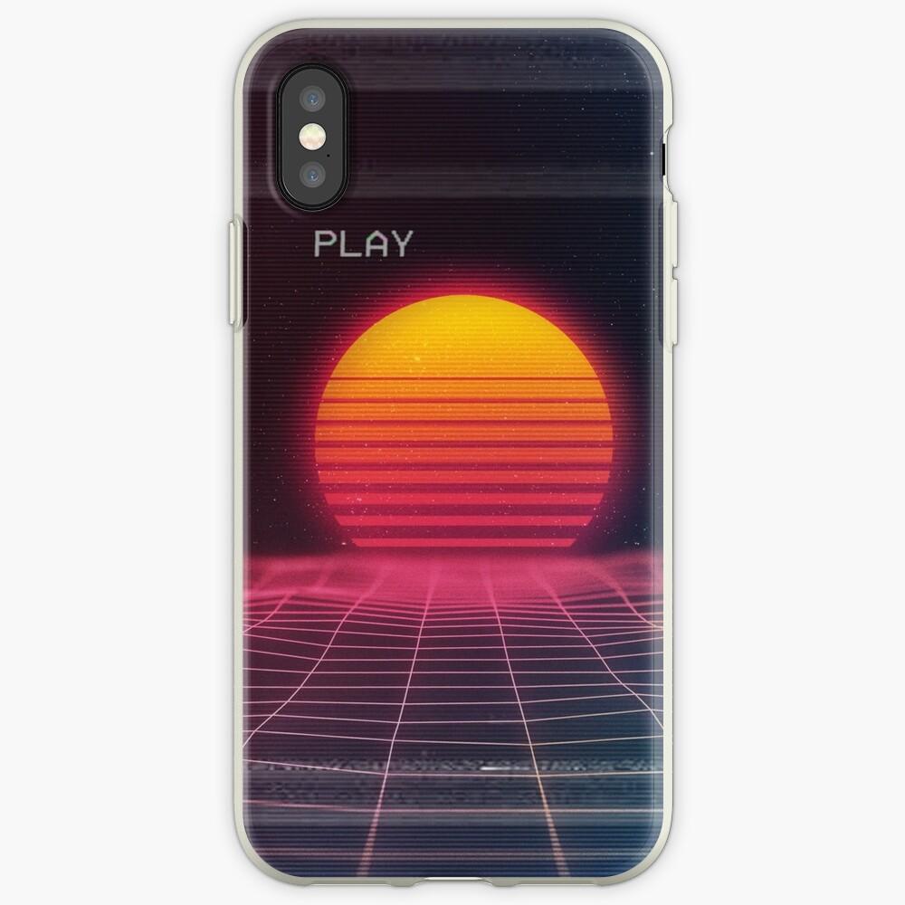 Puesta de sol digital Funda y vinilo para iPhone