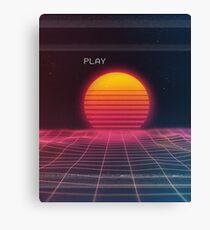 Digital sunset Canvas Print