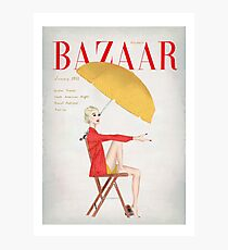 Harpers Bazaar Illustration Photographic Print