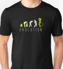 Evolution of Alien Funny Logo T-Shirt