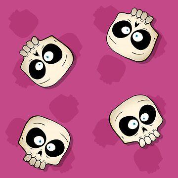 Little Skull Pattern -Pink by MrBradd