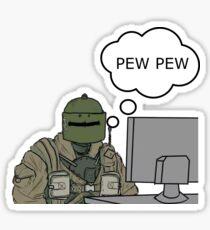 Pew Pew Sticker