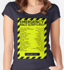 Emergency Bible Scriptures Numbers (New and Improved) Women's Fitted Scoop T-Shirt