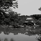 kinkaku-ji in black and white by Perggals© - Stacey Turner