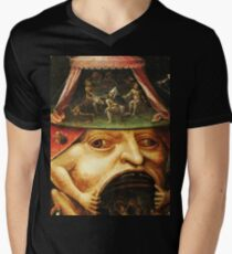 Hieronymus Bosch monster eating people Men's V-Neck T-Shirt