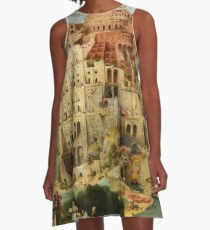Pieter Bruegel Tower of Babel A-Line Dress