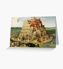 Pieter Bruegel Tower of Babel Greeting Card