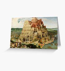 Pieter Bruegel Tower of Babel Greeting Card