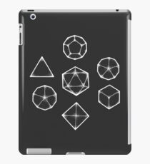 Dot Work Role Playing Dice - White  iPad Case/Skin