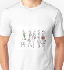 Elegant Spring Style Watercolour Illustration Unisex T-Shirt