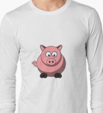 Cartoon Pig Long Sleeve T-Shirt