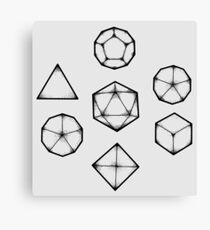 Dot Work Role Playing Dice - Black Canvas Print