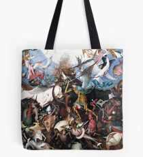 Pieter Bruegel The Fall of the Rebellious Angels 1562 Tote Bag