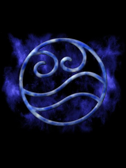 Marble Waterbending Symbol by Colossal
