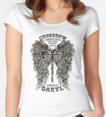 CROSSBOW APPROVED BY DARYL ! Women's Fitted Scoop T-Shirt