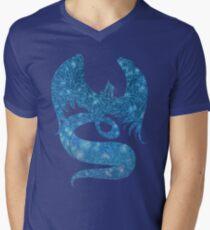 Schneevogel T-Shirt mit V-Ausschnitt für Männer