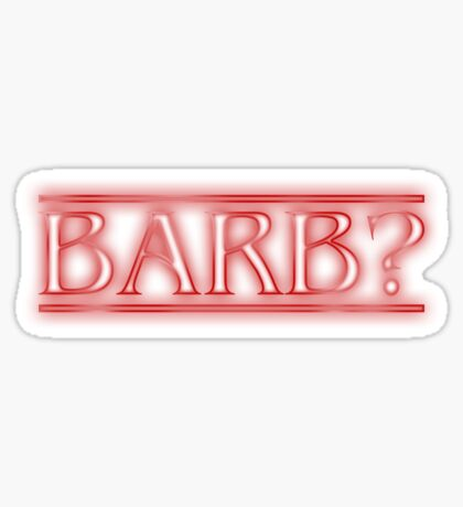 Barb? Sticker