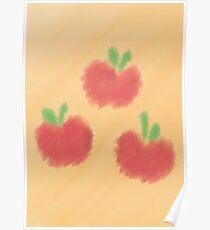 Watercolour Applejack Cutie Mark Poster