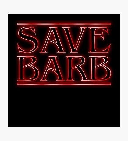 Save Barb Photographic Print