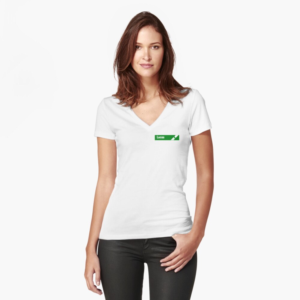 Lucas Electrics Fitted V-Neck T-Shirt