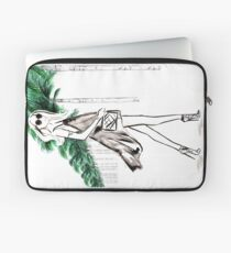 Strolling through The Hills Watercolour Illustration Laptop Sleeve