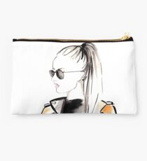 Top Ponytail Watercolour Illustration Studio Pouch