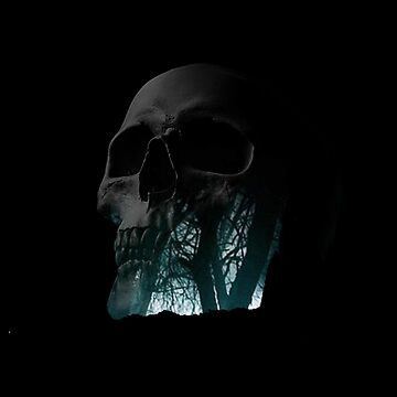 Skull Creepy Forest Double Exposure Scary by LukaMatijas