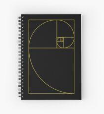 Golden Spiral Sacred Geometry Spiral Notebook