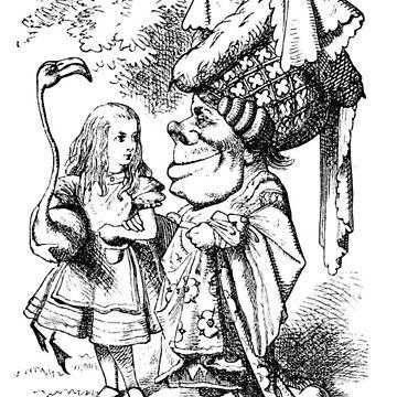 Alice in Wonderland, The Red Queen, Pink Flamingo by longdistgramma