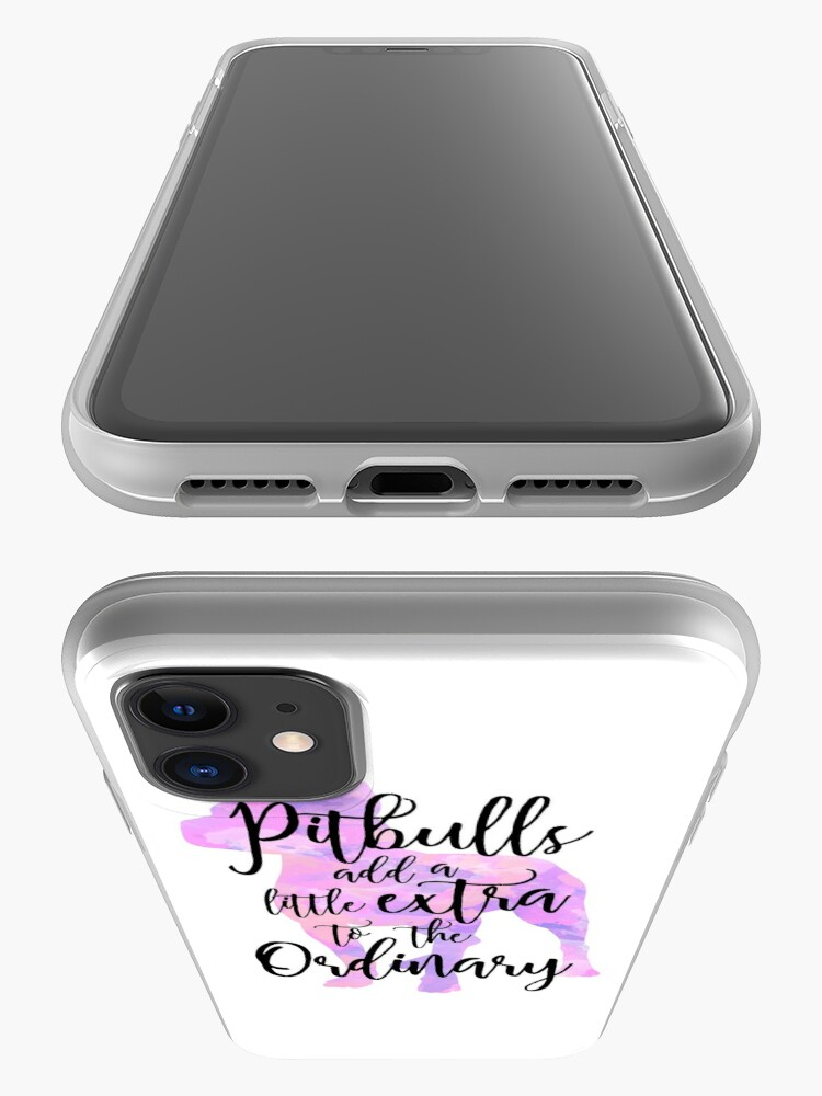 Alternate view of Extraordinary Pitbull Watercolor iPhone Case & Cover