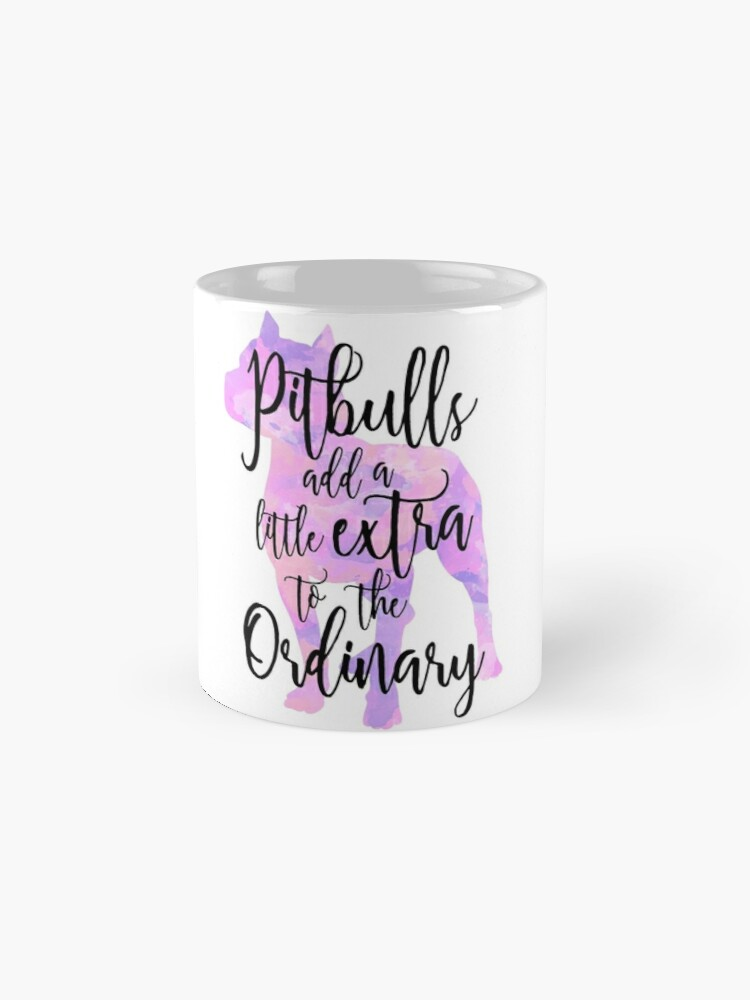 Alternate view of Extraordinary Pitbull Watercolor Mug