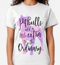 Extraordinary Pitbull Watercolor Classic T-Shirt