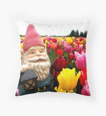 Gnome Petals Throw Pillow