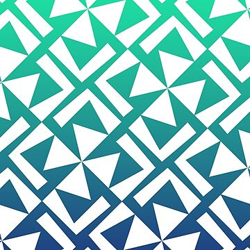 Green and Blue Geometric Pattern by WolfLoft