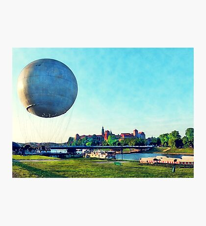 Cracow Wawel baloon Photographic Print