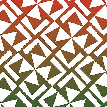 Red and Green Geometric Pattern by WolfLoft