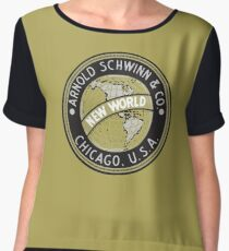 Schwinn vintage Bicycles Chicago USA Chiffon Top