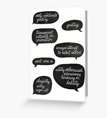 overly affectionate greeting {root & shaw - person of interest} Greeting Card